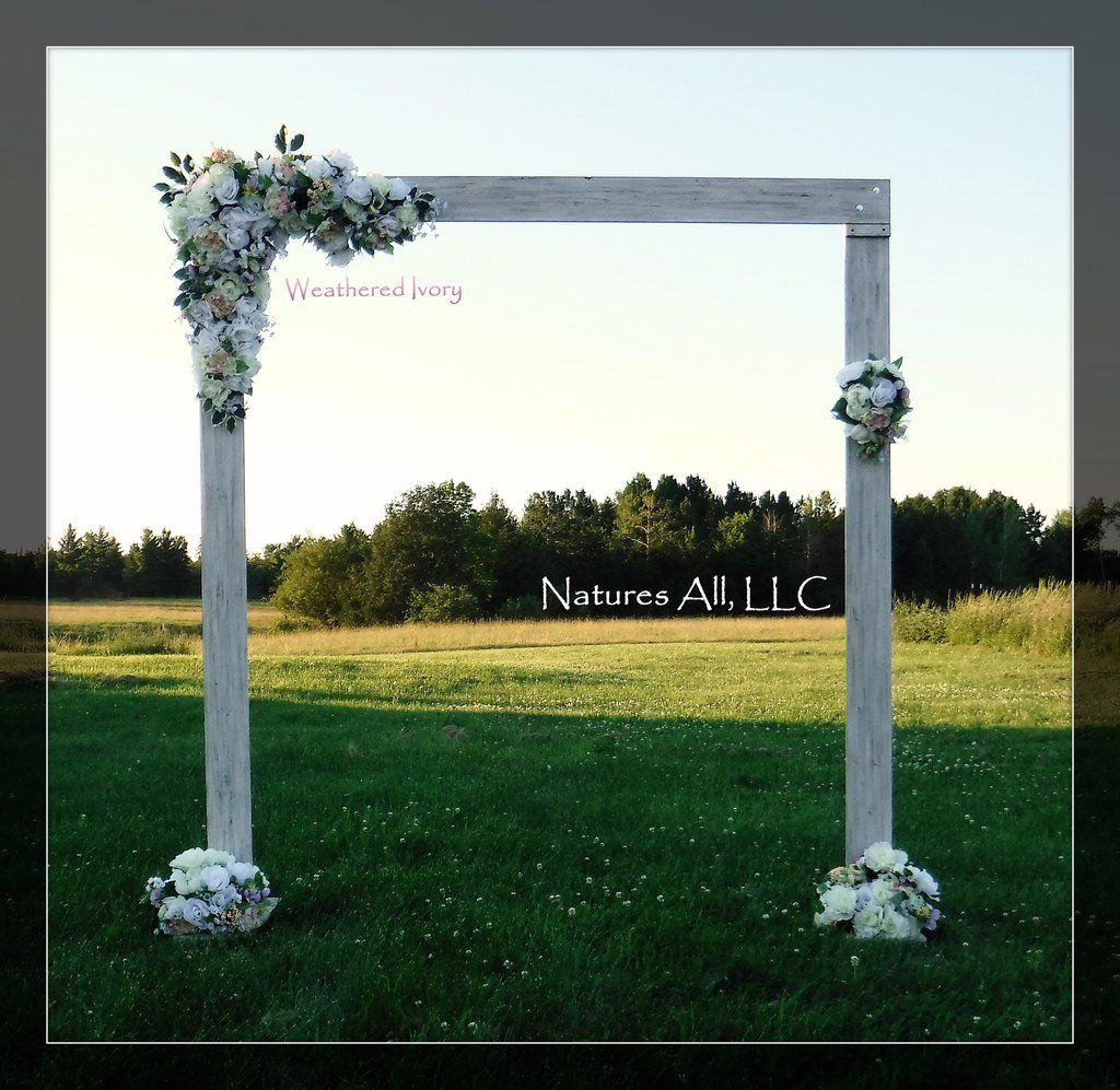 Wedding Arch Arbor Rustic Complete Kit Indoors Or Outdoors Country Backdrop Weathered Ivory Shipping Included