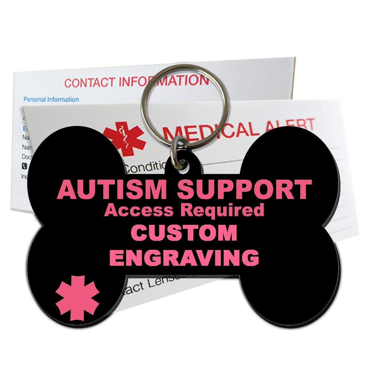 My Identity Doctor Autism Support Service Dog ID Tag Custom