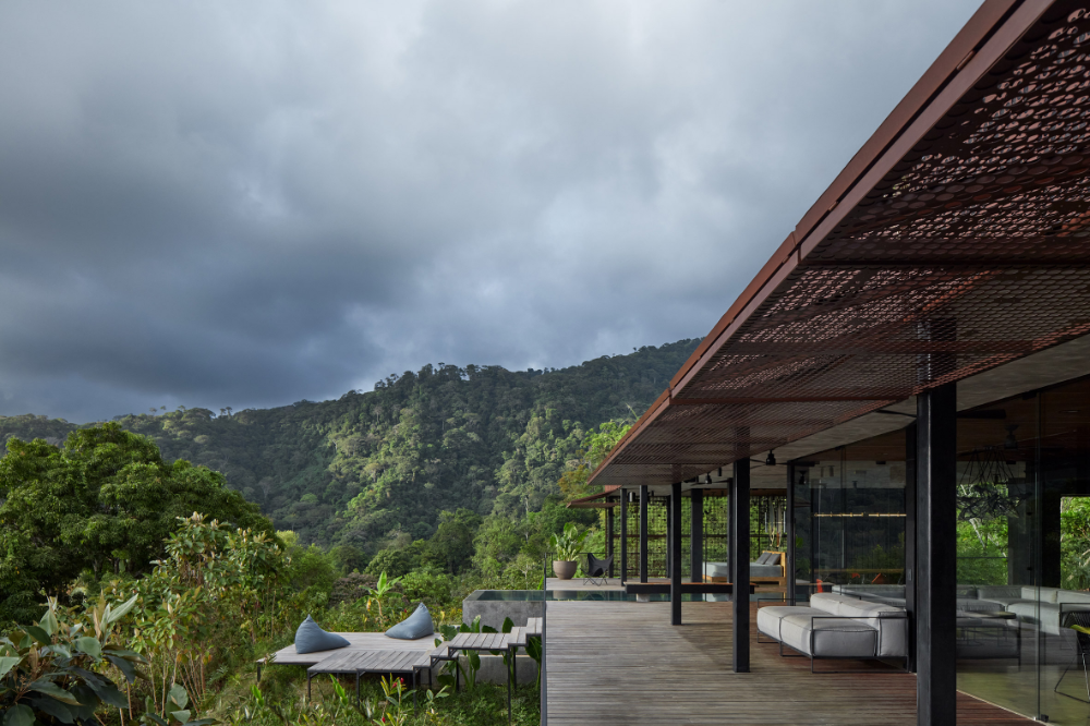 Green Roof And Charred Wood Blend Atelier Villa Into Costa Rican Jungle In 2020 Green Roof Holiday Home Open Air Bedroom