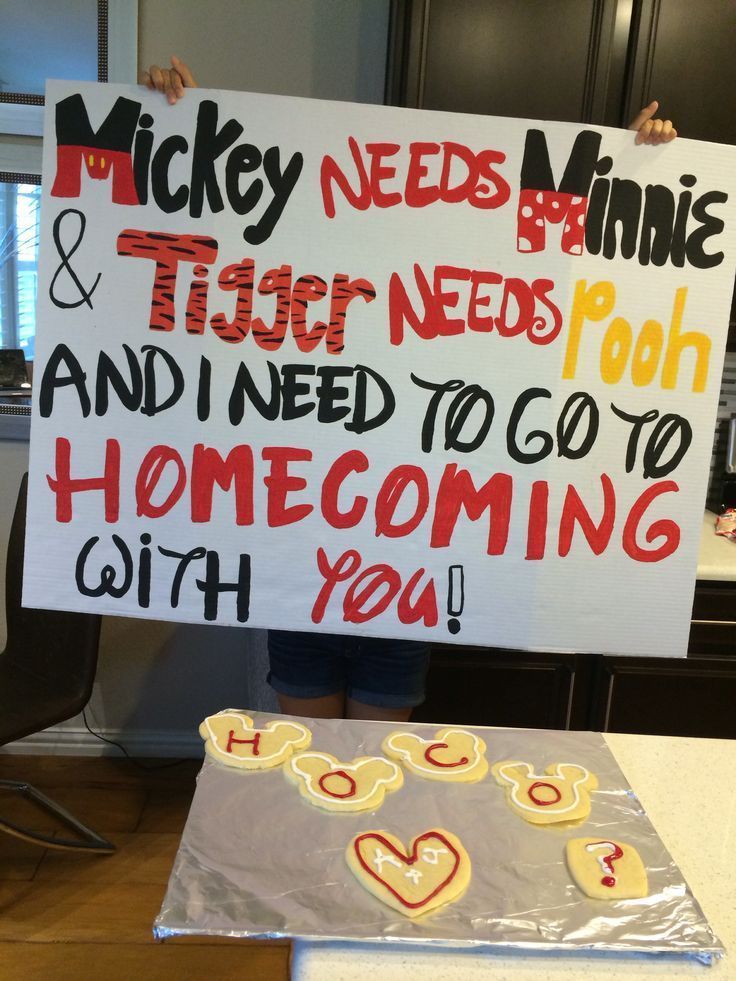 a cute homecoming/dance asking idea! especial for a girl or guy who likes disney #homecomingproposalideas