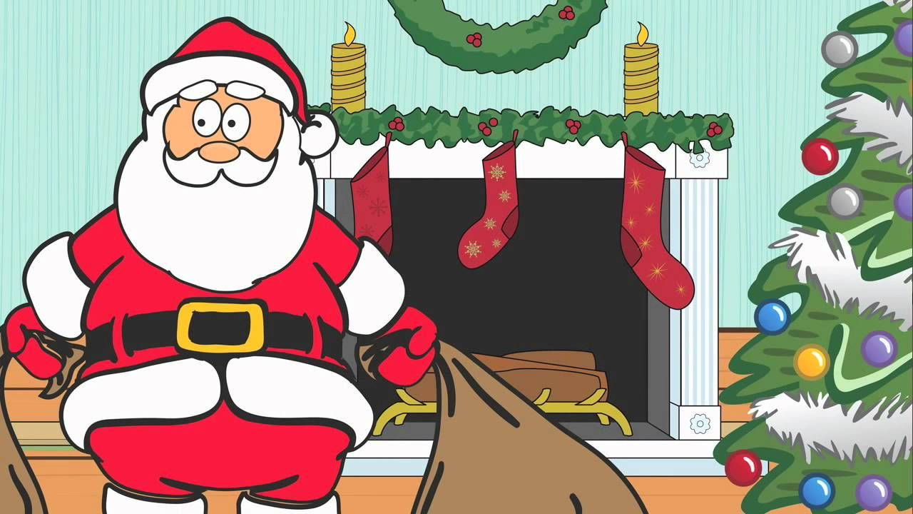 Dancing Santa Claus Cartoon | Christmas music and animations ...