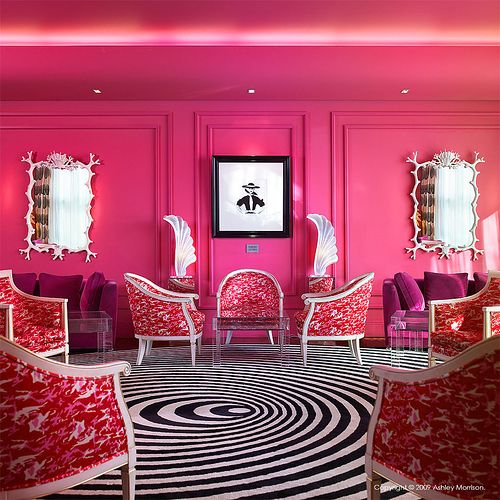 Pink walls white and black! | Home Decor | Pinterest | Pink walls ...