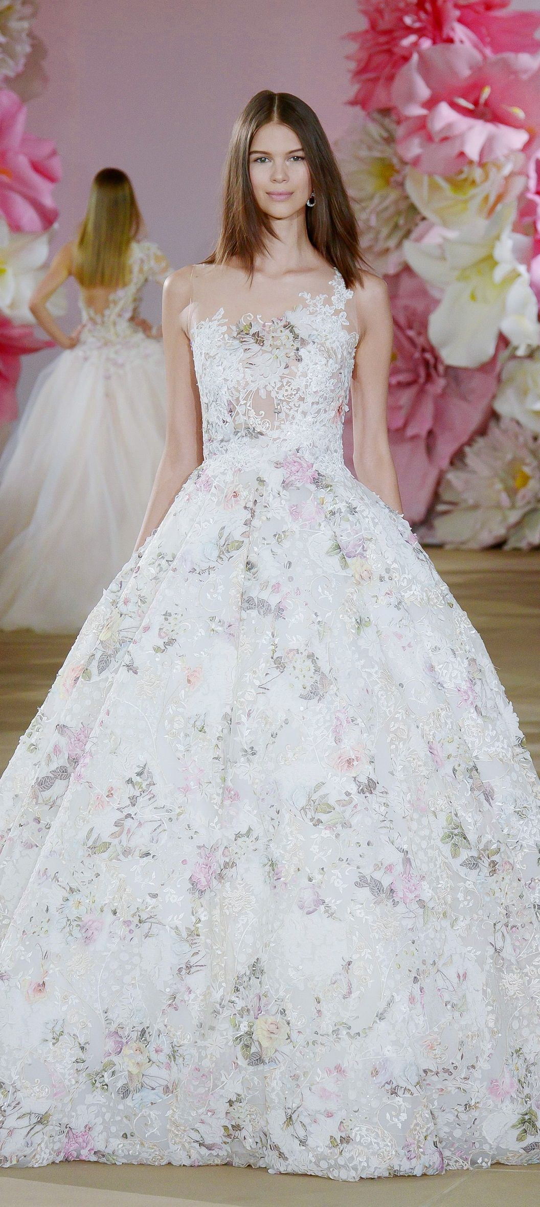 Floral print wedding dresses  Ines di Santo Bridal  Style  Pinterest