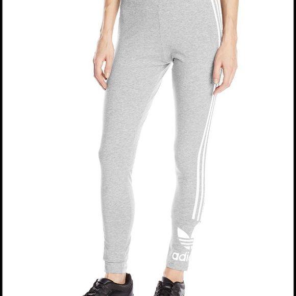 Adidas original skinny pants. New w/o tag Comfy adidas ordinal skinny pants. Heather grey Adidas Pants Leggings
