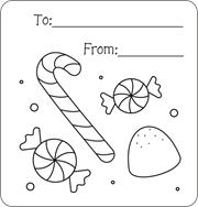 Christmas Gift Tags To Color Free Printable For Kids