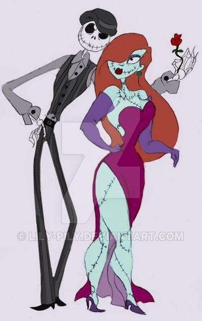 Bonedaddy And Sassy Sally Jack Nightmare Before Christmas Jessica Rabbit Dark Disney