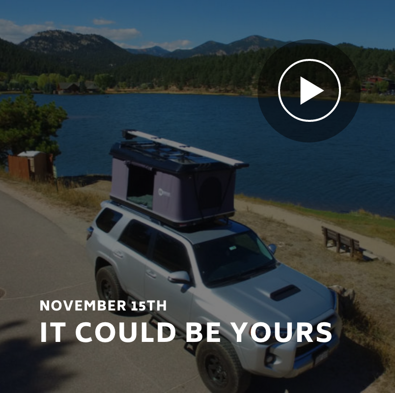OverRoam Rooftop Tent from Denver Outfitters & OverRoam Rooftop Tent from Denver Outfitters | Giveaways ...