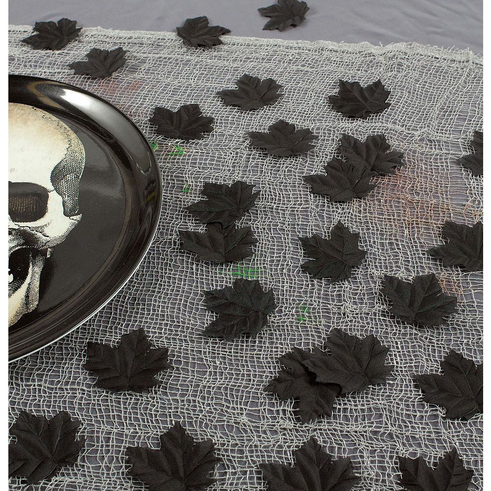 Black Leaf Table Scatter 72ct Image 3 Leaf decor, Black