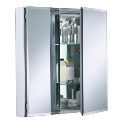 Double Door 25 In W X 26 In H X 5 In D Aluminum Cabinet With