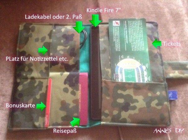 """2in1 Organizer """"Kurt"""" – vom Reiseorganizer zur E-Book-Reader-Tasche"""