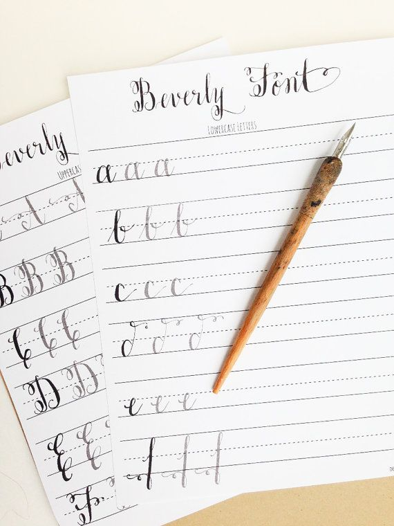 Modern Calligraphy Practice Worksheets by StunningScript on Etsy ...