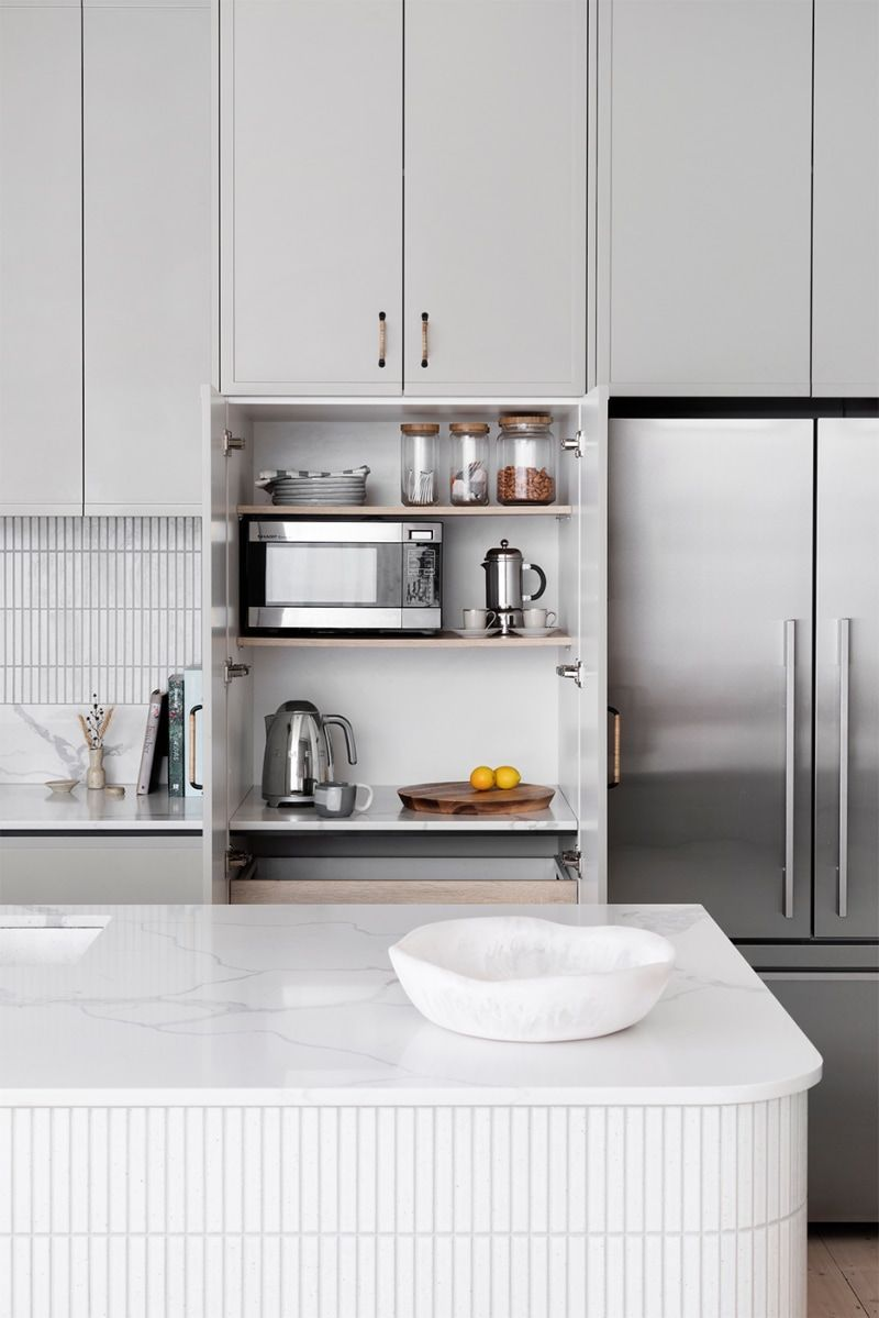 This Australian Kitchen Remodel Has A Magical Secret Passageway Small Kitchen Cabinets Kitchen Cabinets Grey Kitchen Cabinets