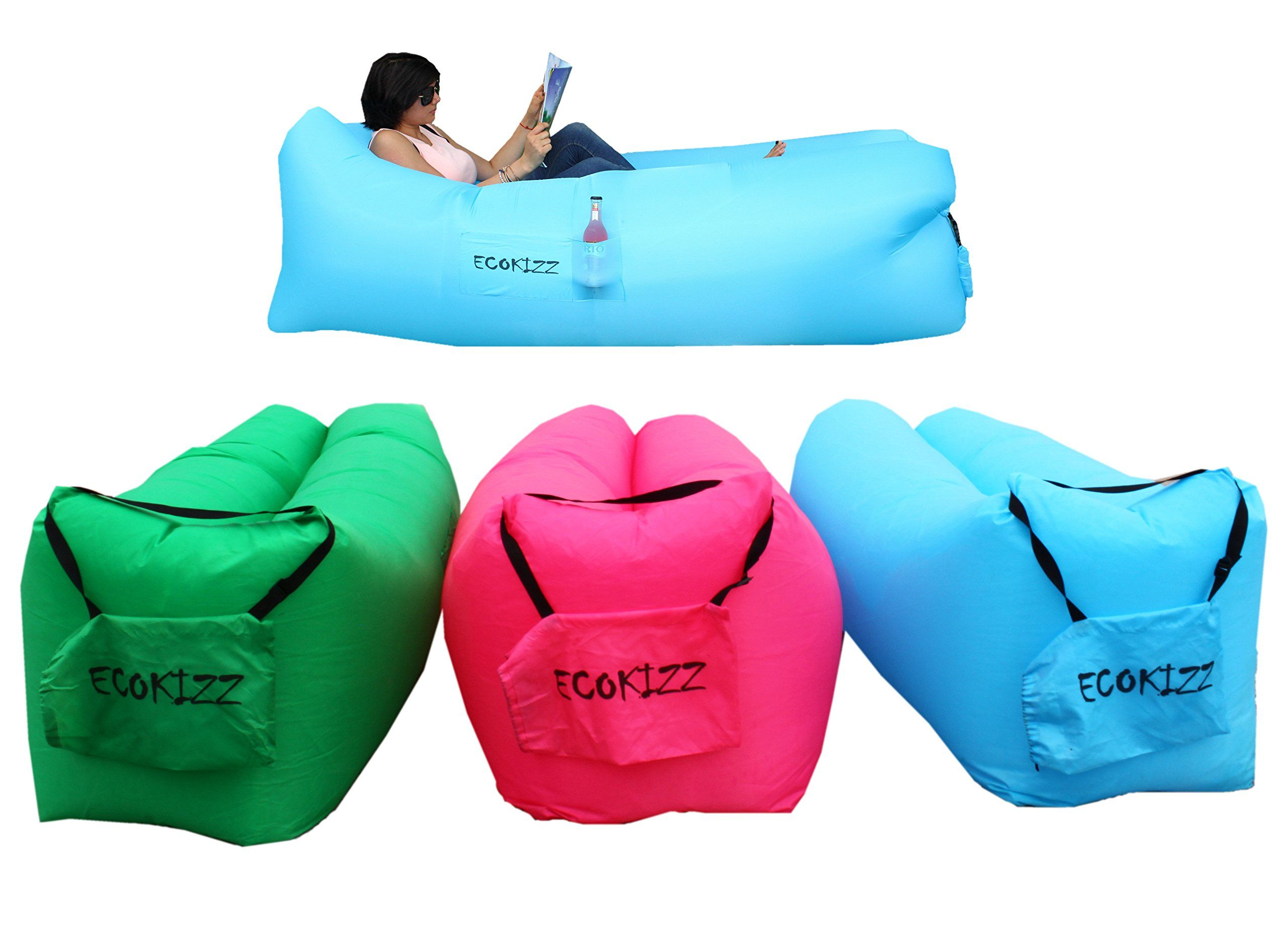 Ecokizz 2 0 Inflatable Lounger Bag Protable Air Sofa Bed With Carrying Bag For Various Use Ecokizz Design The Upgr Air Sofa Bed Inflatable Lounger Lounger