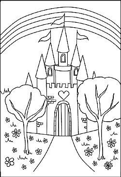 Malvorlage Schloss Ausmalbilder Prinzessin Malvorlagen