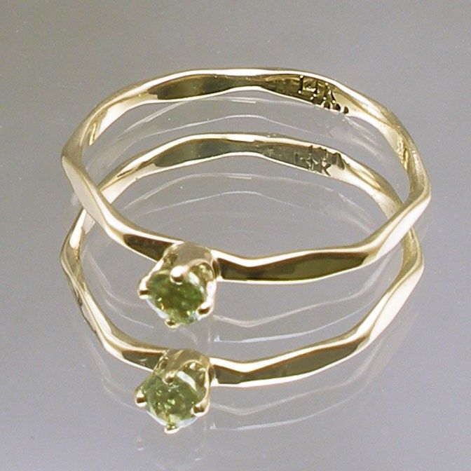 Size 00 Peridot Baby Keepsake Ring August Birthstone Hand
