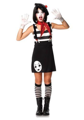 Miss Mime Tween Costume Costumes  Make up Pinterest Halloween