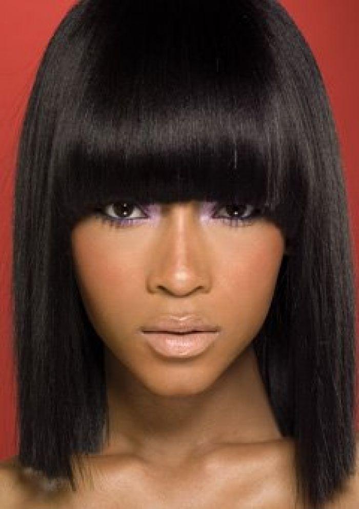 Black Hairstyles Chinese Bangs
