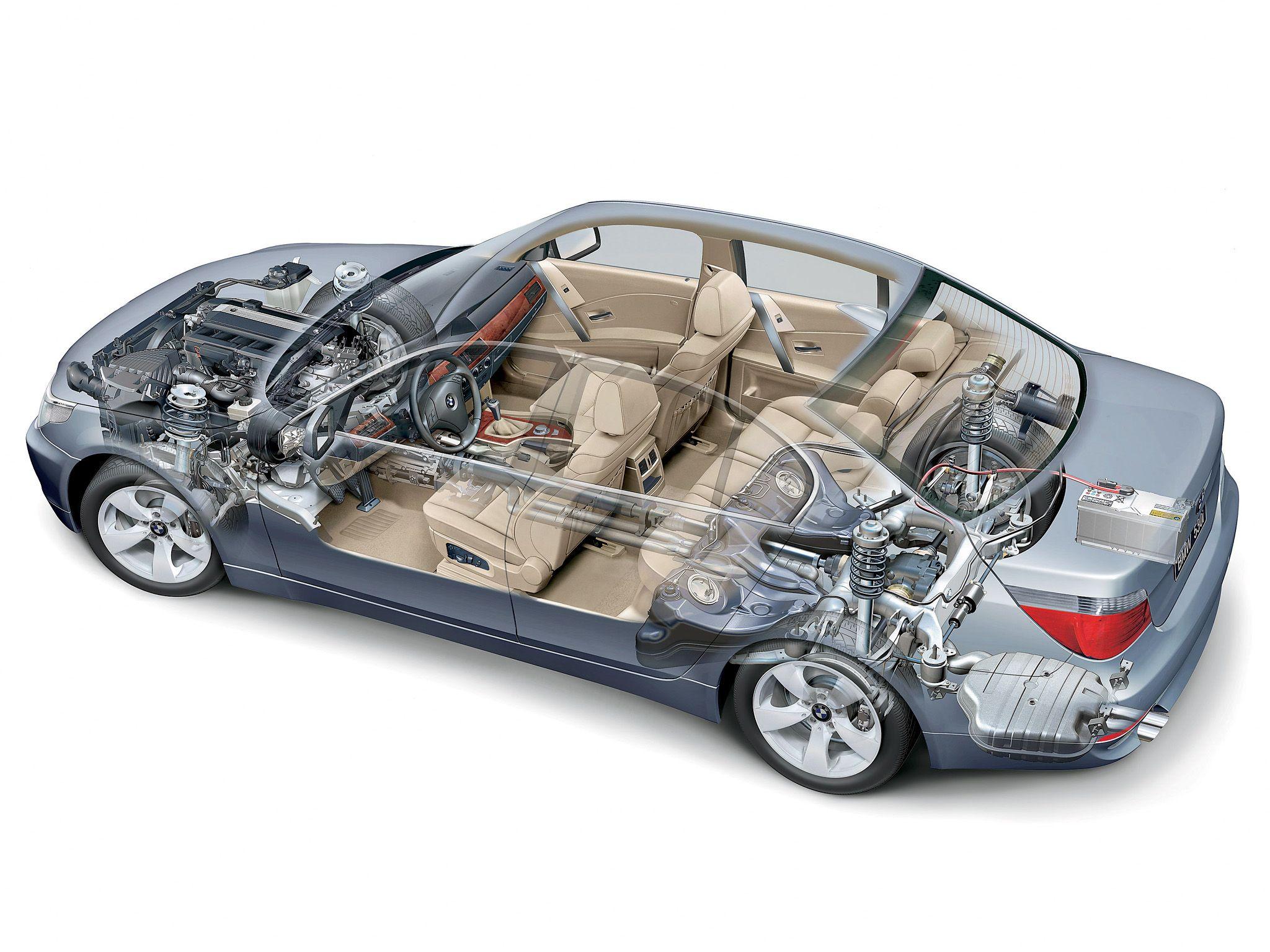 2003-2007 BMW 530i Sedan (E60) - Illustration unattributed ...