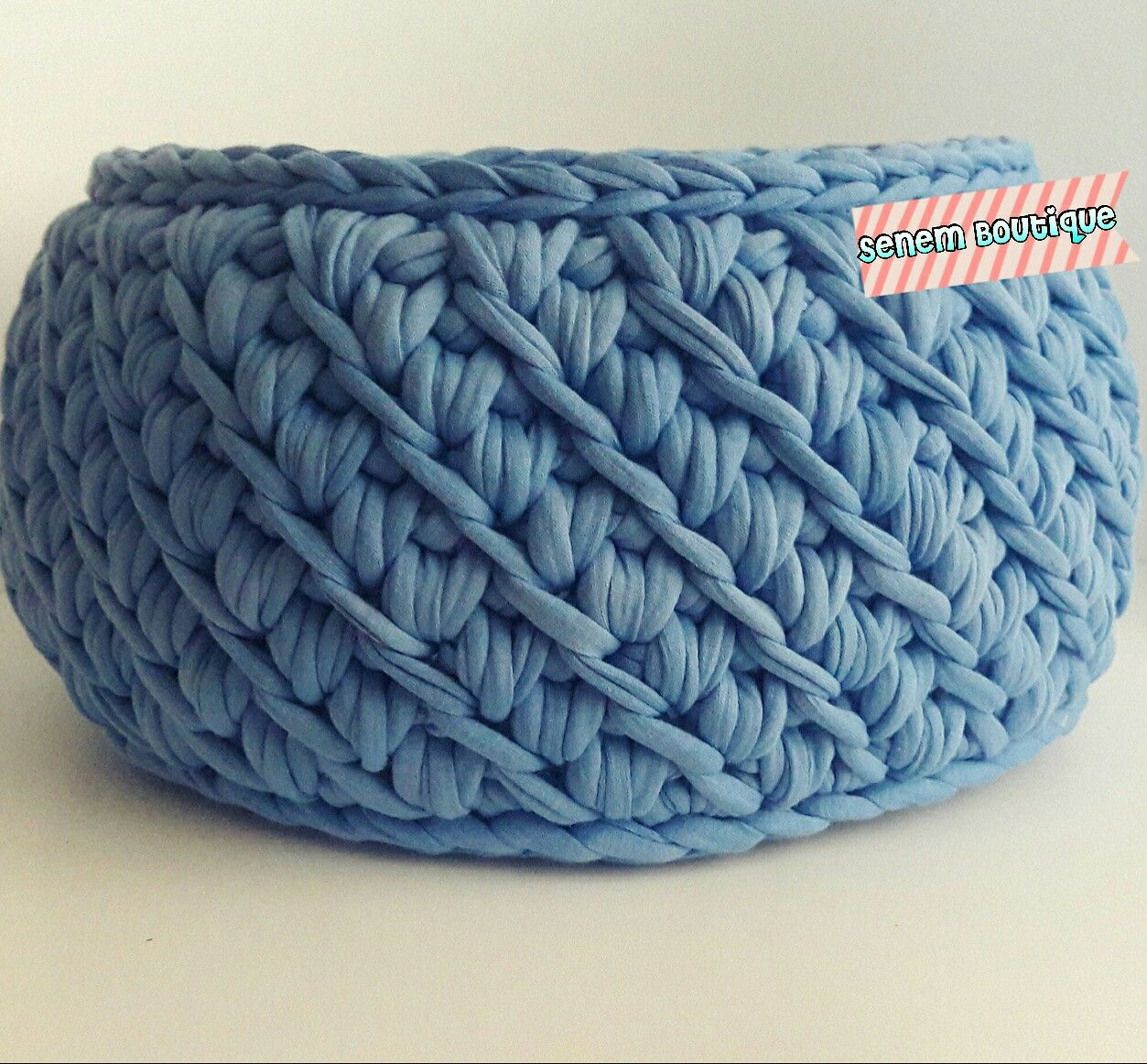 T SHIRT YARN BASKET - Crocheting Journal | Crochet ...