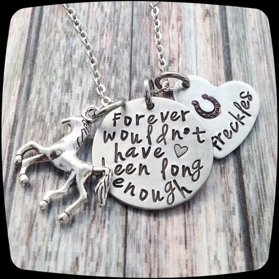 Horse Memorial Necklace Horse Necklace Horse Lover Gift Horse Sympathy Gift Personalized Horse Jewelry