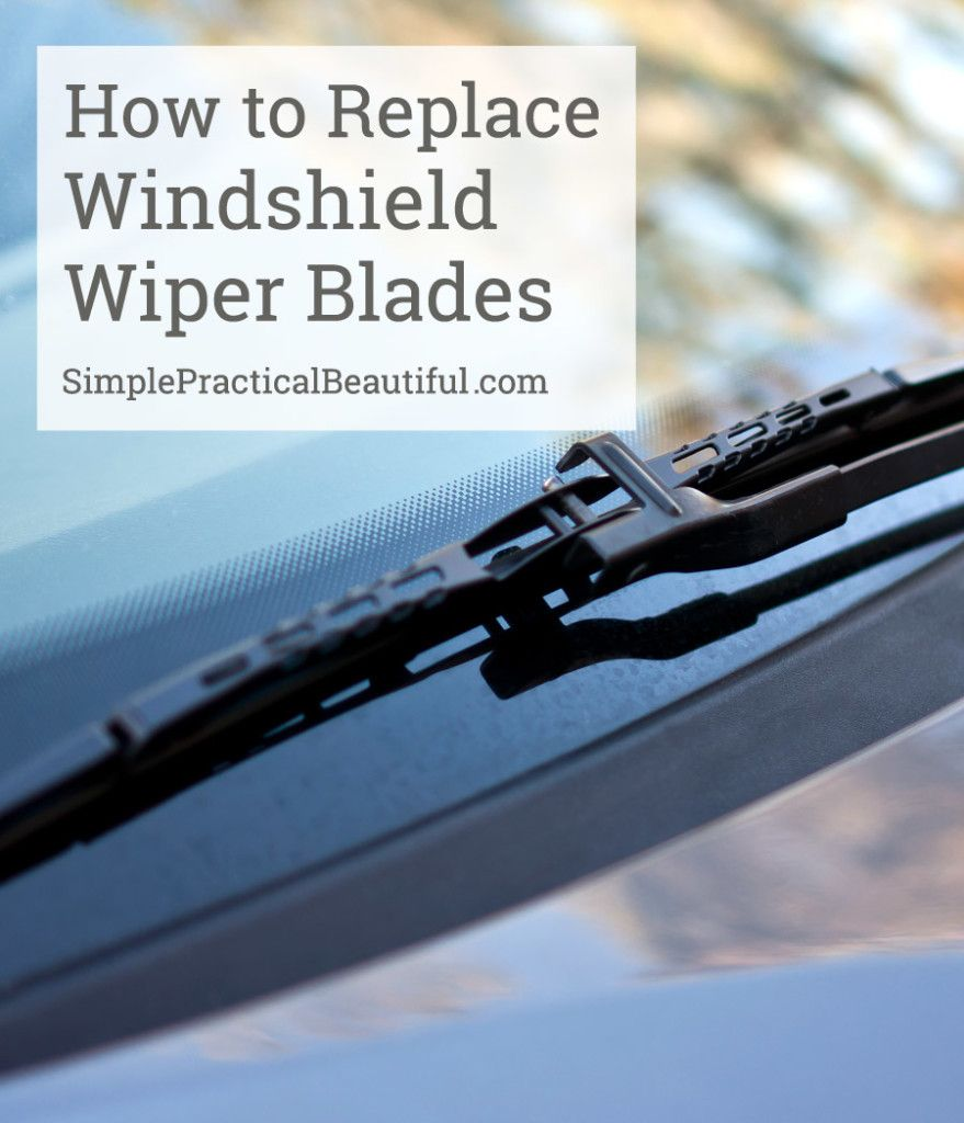 Bring Your Own Parts Auto Repair >> How To Replace Your Windshield Wiper Blades Diy Bloggers