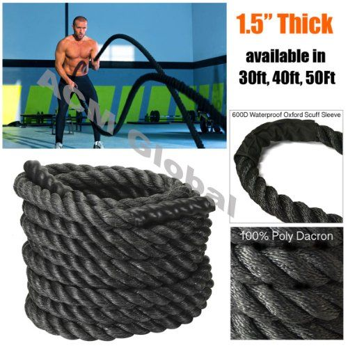 Battle Rope Fx Poly Dacron Undulation Rope Exercise Fitness Training Mma 1 5 Width Avail In 30ft 40ft 50ft Rope Exercises Battle Ropes Fitness Training