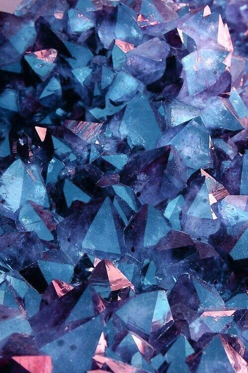 Blue Wallpaper And Crystal Image