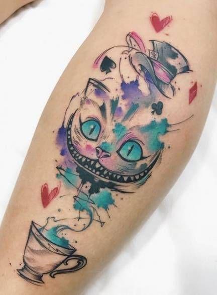 Photo of 24+ Ideas Tattoo Disney Watercolor Alice In Wonderland