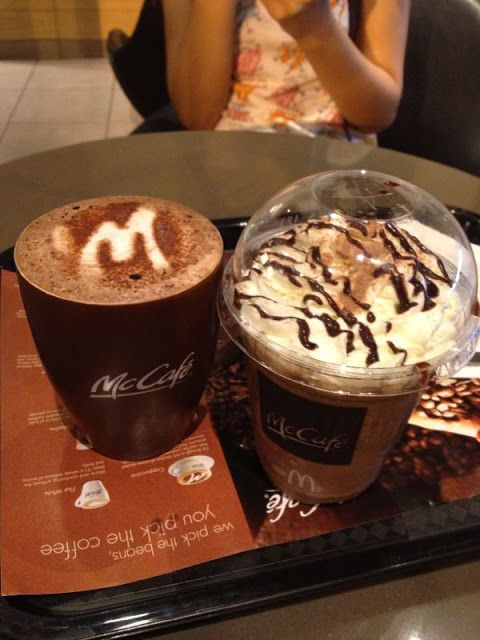Our Drinks In Mccafe Mccafe Mcd Hotchocolate Mochafrappe Mocha Frappe Drinks Food Mocha Frappe Frappe