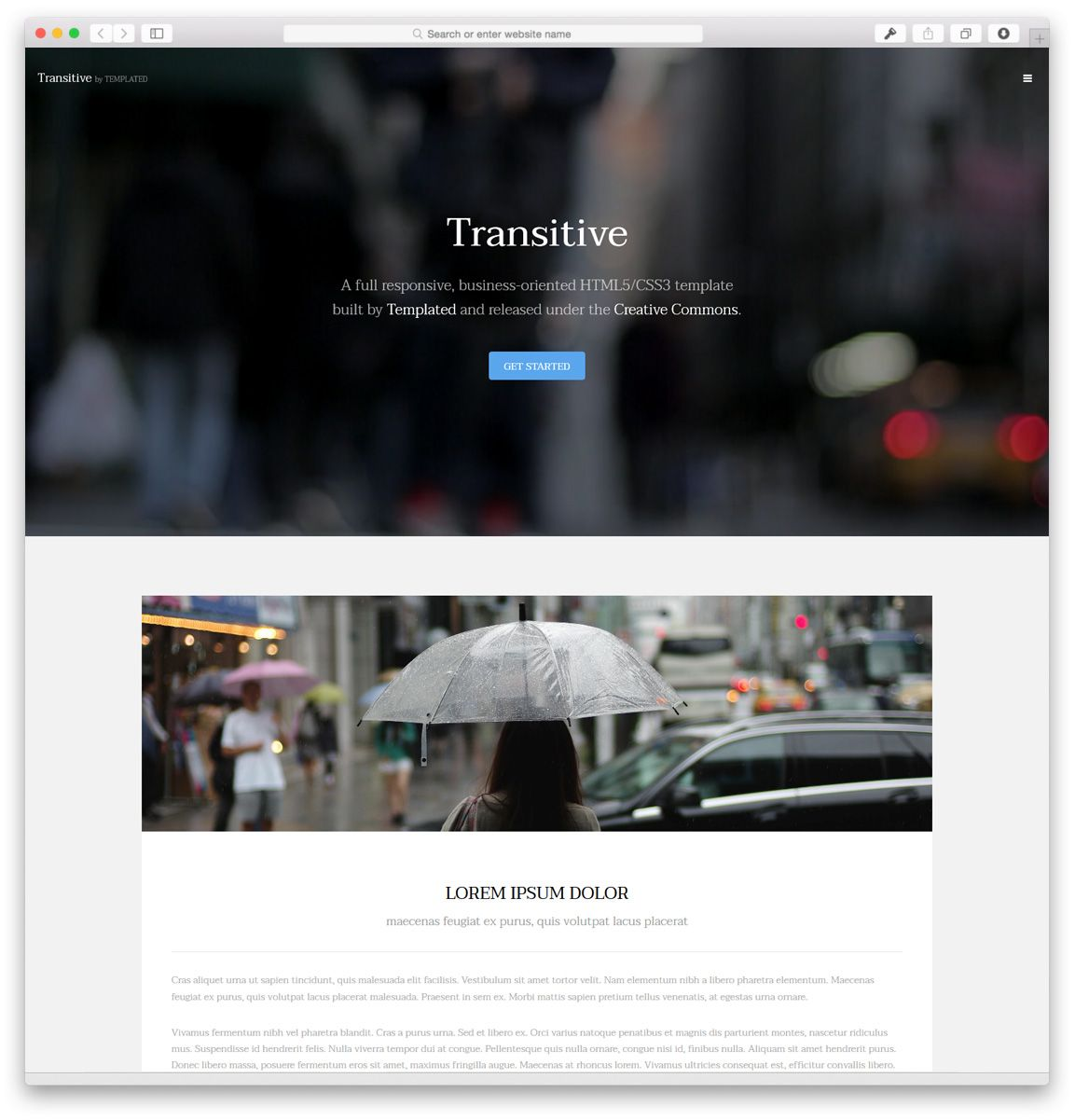 40 Best Free Responsive HTML5 & CSS3 Website Templates | Themes ...