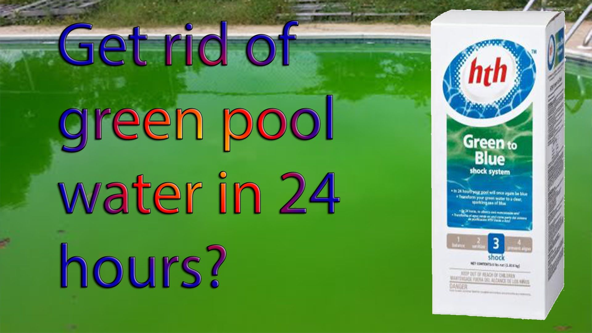 Green pool water to blue get rid of algae with the hth