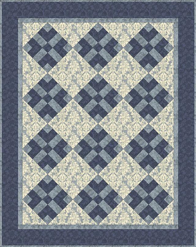 Got Blues? Send Them Packing With This Easy Quilt Pattern ... : one color quilts - Adamdwight.com