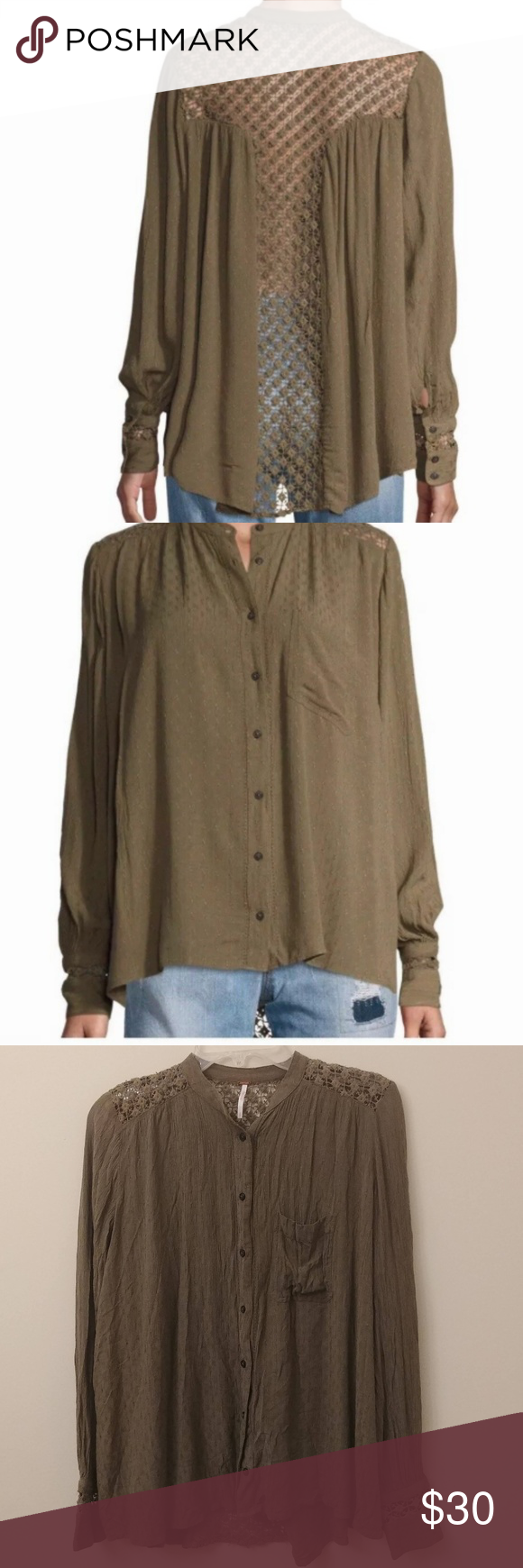 Free People Womens The Best Button Down Blouse