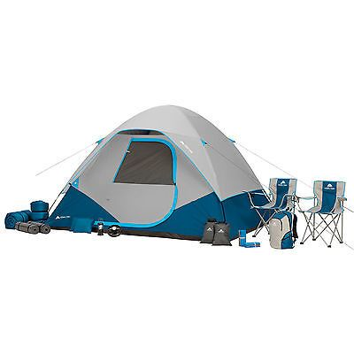 C&ing Combo Set 6 Person Tent Ozark Trail 28 Piece Outdoor Family Hiking Tent  sc 1 st  Pinterest : ozark trail 9x7 backpacking tent - memphite.com