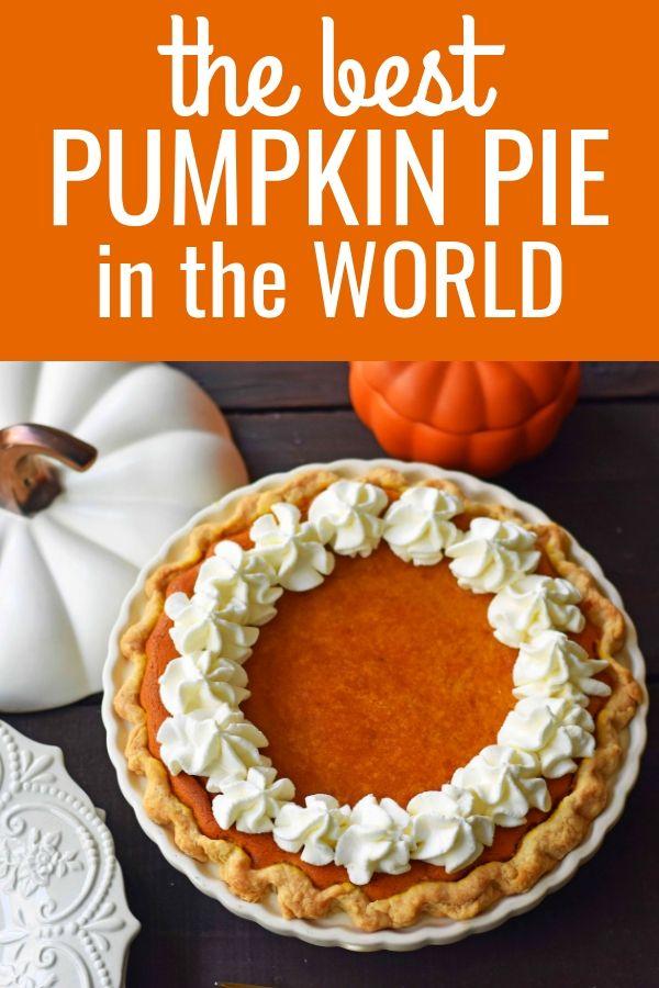 Award-Winning Pumpkin Pie Recipe #thanksgivingrecipes