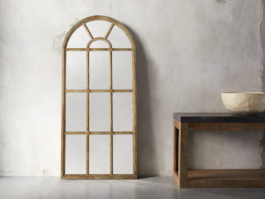 Teak Arched Floor Mirror | Arhaus Furniture in 2020 | Floor