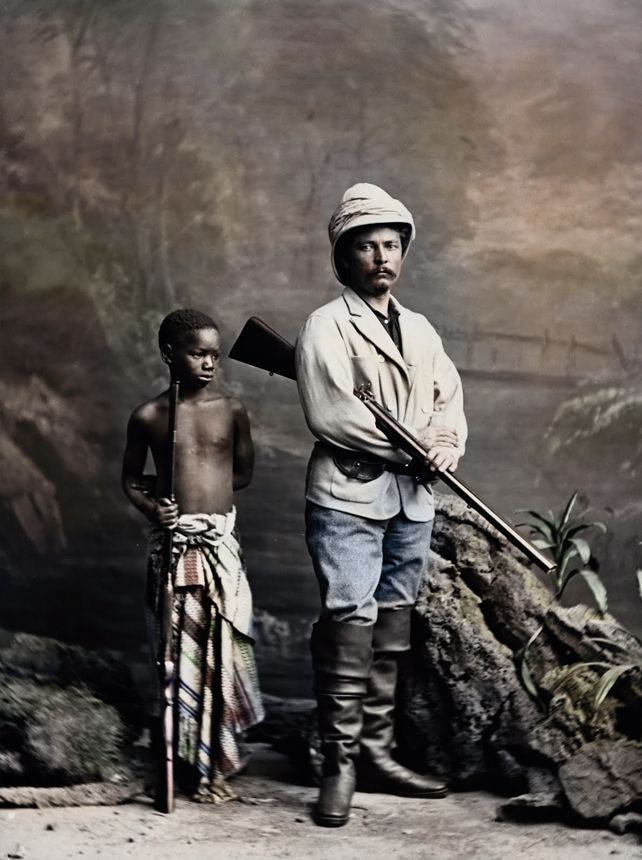1872 - Henry Morton Stanley (1841-1904) and his adopted son Kalulu - mr livingstone i presume