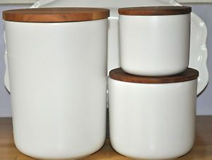 Danish White Porcelain Kitchen Storage Jar Canister Coffee Tea Decor Eco Home