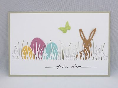 Photo of Sabine's craft table: bunnies on the meadow
