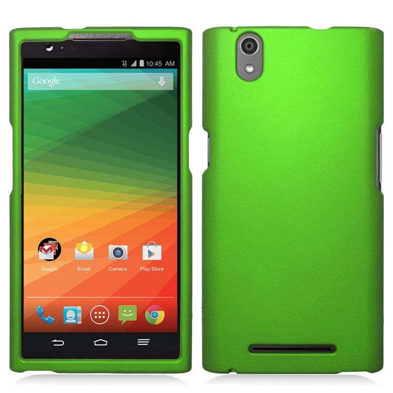Zizo Rubberized Hard Snap-On ZTE ZMax Case - Neon Green