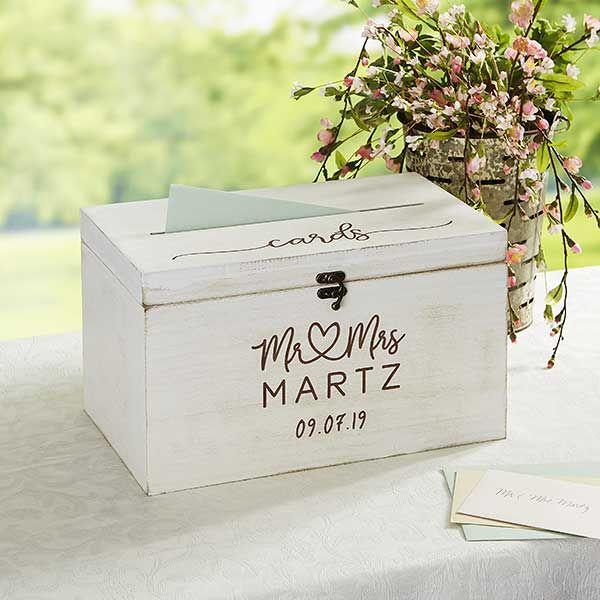 Infinite Love Personalized Wedding Wood Card Box #personalizedwedding