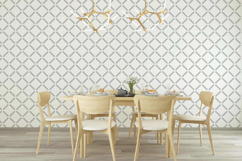 Black And White Diagonal Squares Wallpaper Square Grid Etsy Geometric Pattern Wallpaper Geometric Pattern Wallpaper