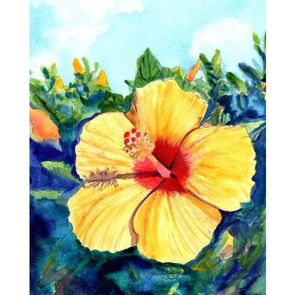 Hula Girl Hibiscus Original Watercolor Painting watercolour art ...