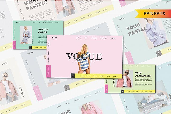 Vogue Pastel PowerPoint Template Presentalagak Std