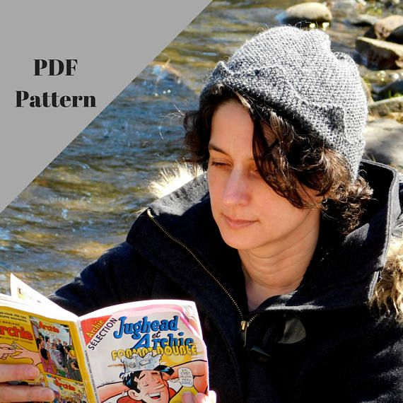 16aa7f011a0 Jughead hat PDF pattern. Knitting pattern. Easy level. Crown ...