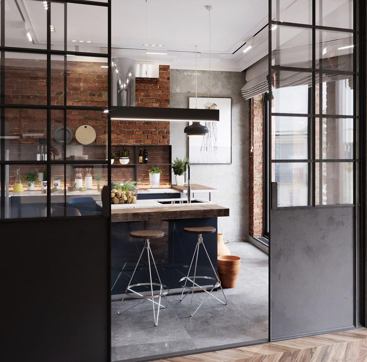 Porte Scorrevoli Stile Industriale come arredare la casa nel 2019 | arredo interni cucina