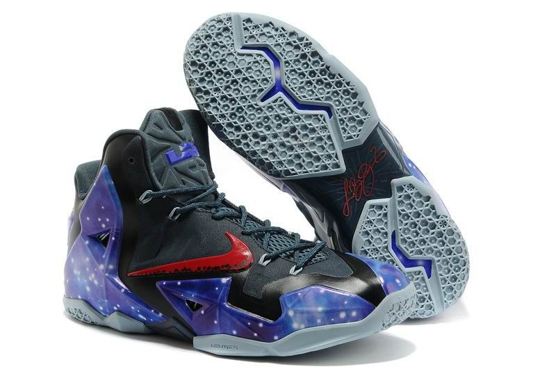 New Glow in the Dark Nike Air Max LeBron James 11 P.S Elite South Beach  Galaxy Mens Basketball Shoes Sale Online