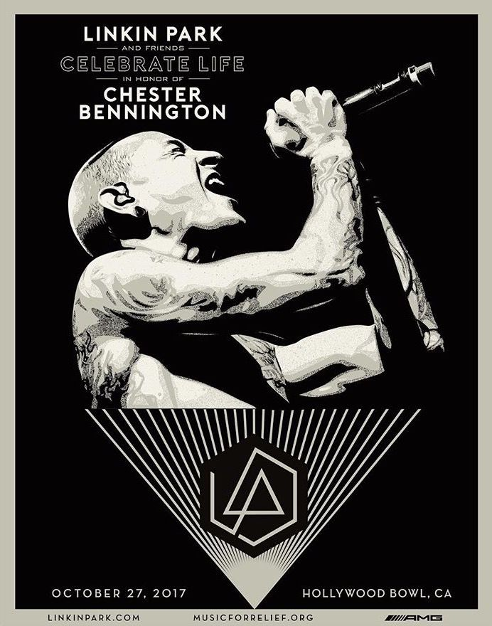 Linkin Park Celebrate Life 27102017 Poster Graphic Design Too