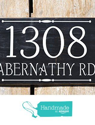 House Number Sign Wooden Rustic Handmade Plaque Wood Burned