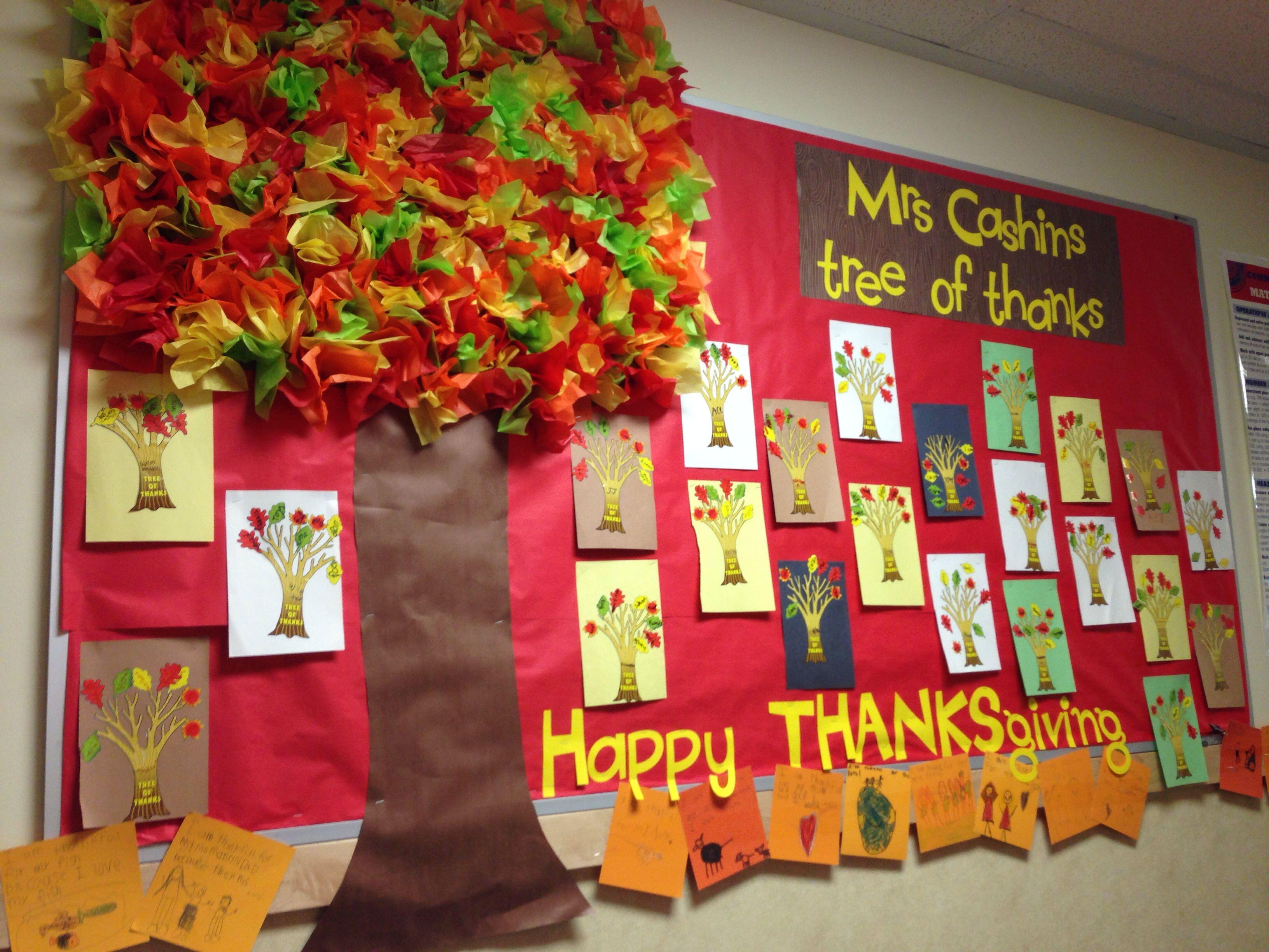 Thanksgiving Bulletin Board Tree Of Thanks Board